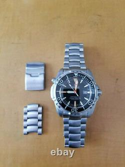 Rare Deep Blue Depthmaster 3000m Automatic Black Dial Stainless Steel #20/2000