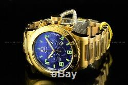 Rare Invicta 52mm Russian Diver SWISS MADE Chrono 18K Gold Plated SS Watch