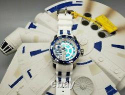 Rare Invicta Star Wars R2D2 Limited Edition Mens 48mm White Silicone Wristwatch