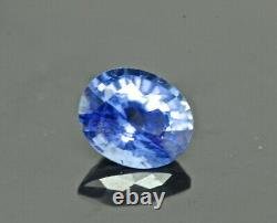 Rare Natural Faceted Sri Lanka Blue Sapphire 1ct Oval Cut Gemstone $2395 REDUCED
