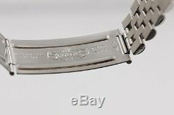 Rare ROLEX 1601 Datejust 1962 SS White Gold Silver Dial Vintage Patina Men Steel
