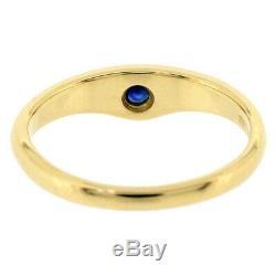 Rare Tiffany & Co. Sapphire K18 Yellow Gold Ring Size US 3.5 H