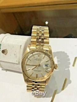 Rolex Datejust 18k 1601 Rare Stunning Condition with Jubilee Bracelet 36mm