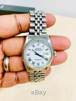 Rolex Datejust Mens Stainless Steel & Rare Jubilee Band Roman Numerals 1601