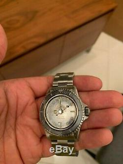 Rolex Submariner Wristwatch 5513 RARE GILT SILVER EXCLAMATION Chapter Ring Ghost