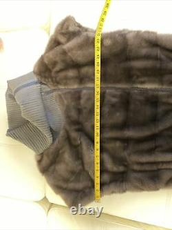 Saga Mink Fur Coat, SAPPHIRE COLOR, Barely Worn, Authentic Italy! RARE STYLE