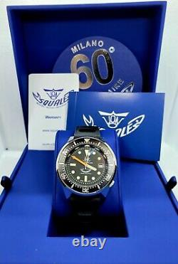 Squale 1521 60th Anniversary 50 Atmos Polished Rare Mint/Excellent Condition
