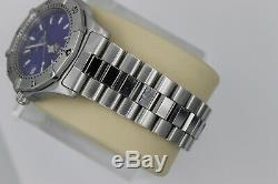 Tag Heuer 2000 Classic SS Professional WK1116. BA0311 Watch Mens RARE BLUE MINT