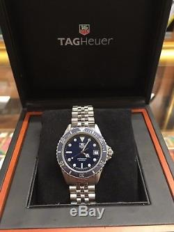 Tag Heuer Proffesional Diver Vintage 980.613b Blue Dial and Bezel RARE