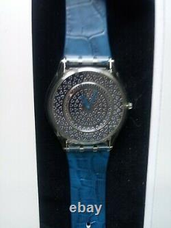 VERY RARE Swatch Skin Special BLUE LUSTROUS BLISS SFZ111 w. 174 Pave Sapphires