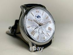 Very Rare NEW Montblanc Star 4810 Dual Time Silver Dial Watch 114857 FULL SET