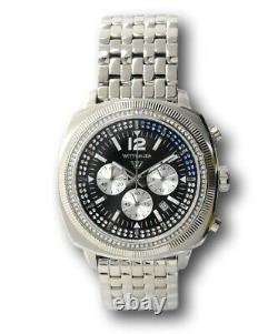 Wittnauer Men's 44mm Crystals Chronograph WN3061 RARE Designed by Bulova